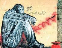 Grafittis - arte da rua Fotos de Stock Royalty Free