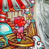 Grafittis - arte da rua Imagens de Stock