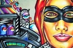 Grafittis - arte da rua Fotos de Stock
