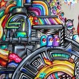 Grafittis - arte da rua Foto de Stock