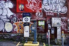 Grafittis coloridos da rua fotografia de stock