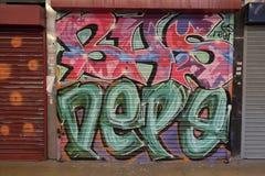 Grafittis coloridos em Croydon, Reino Unido Fotos de Stock
