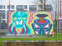 Grafittis coloridos psicadélicos Fotografia de Stock Royalty Free