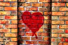Grafittis com amor Fotografia de Stock