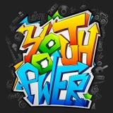 Grafittis com potência de juventude Imagens de Stock Royalty Free