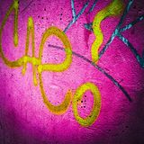 Grafittis cor-de-rosa Foto de Stock
