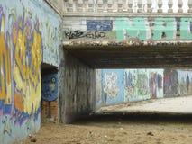 Grafittis da arte da rua em Calletta, Espanha Imagens de Stock Royalty Free