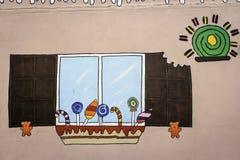 Grafittis da arte em uma parede Fotos de Stock