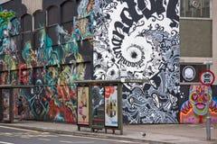 Grafittis da cidade Fotos de Stock