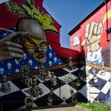 Grafittis da cidade Fotografia de Stock