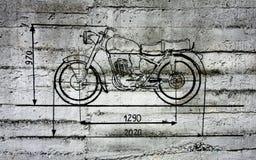 Grafittis da motocicleta fotografia de stock royalty free