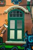 Grafittis da parede Fotografia de Stock