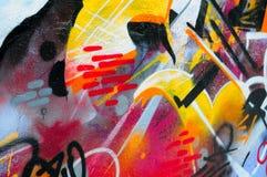 Grafittis da parede Imagens de Stock Royalty Free
