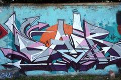 Grafittis da parede Foto de Stock Royalty Free