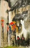 Grafittis da parede chinesa fotografia de stock royalty free