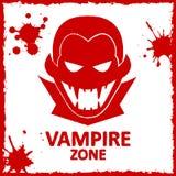 Grafittis da parede do vetor Zona do vampiro Imagem de Stock Royalty Free