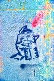 Grafittis da pintura de pulverização da lata de pulverizador Imagens de Stock