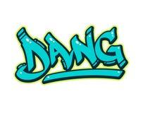 Grafittis Dang ilustração royalty free