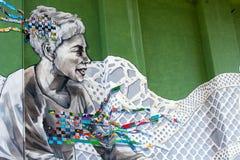 Grafittis de Bilbao, Espanha do norte Fotografia de Stock Royalty Free