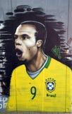 Grafittis de Luis Fabiano imagem de stock