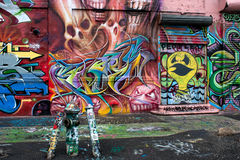 5 grafittis de Pointz New York Foto de Stock Royalty Free