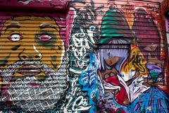 5 grafittis de Pointz New York Fotografia de Stock Royalty Free