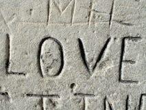 Grafittis do amor Fotografia de Stock