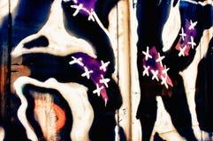 Grafittis do carro de estrada de ferro Imagem de Stock Royalty Free