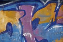 Grafittis do equipamento em um muro de cimento da cidade de Yekaterinburg Fotos de Stock Royalty Free