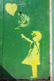 Grafittis do estilo de Banksy em York Foto de Stock Royalty Free