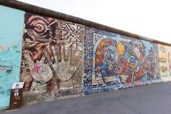 Grafittis do muro de Berlim fotografia de stock royalty free