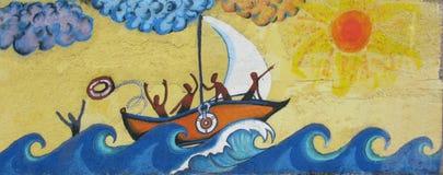 Grafittis do porto Imagens de Stock Royalty Free