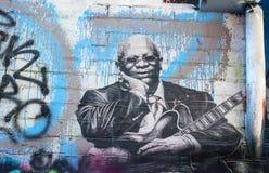 Grafittis do rei do BB imagens de stock