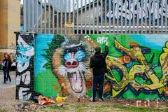 Grafittis do revestimento Imagem de Stock