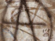 Grafittis do sinal da anarquia. Imagem de Stock