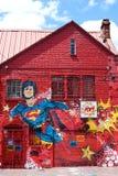 Grafittis do superman em uma parede em Bogotá, Colômbia Foto de Stock
