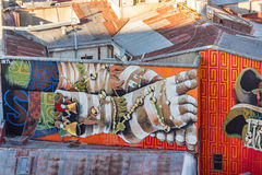 Grafittis dos pés Imagem de Stock