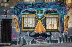 Grafittis em Belgrado Fotos de Stock