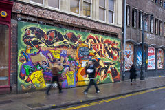 Grafittis em Bristol Imagem de Stock Royalty Free