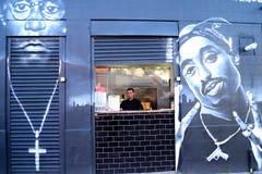 Grafittis em Brixton foto de stock