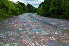 Grafittis em Centralia Imagens de Stock Royalty Free
