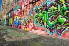 Grafittis em cinco Pointz Fotografia de Stock Royalty Free
