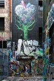 Grafittis em Melbourne' s Laneways Fotografia de Stock Royalty Free