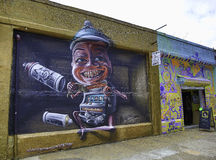 Grafittis em New York City Ilustração do Vetor