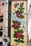 Grafittis em paredes da construção em Melbourne Fotos de Stock