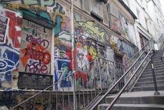 Grafittis em Paris Imagens de Stock