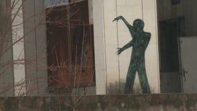 Grafittis em Pripyat video estoque