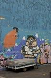 Grafittis em Reykjavik foto de stock