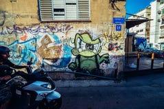 Grafittis em Tel Aviv Fotografia de Stock