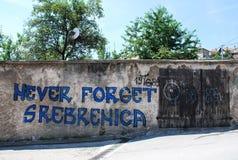 Grafittis em Travnik Fotos de Stock Royalty Free
